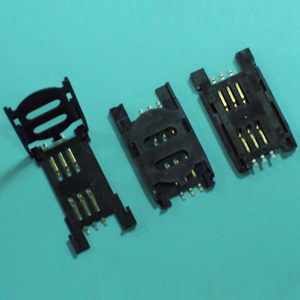 SIM CARD CONNECTOR ASSY W/COVER TYPE