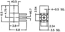 MMCX6252N1-3GT30G-50 - R/A Jack For Printed Circuits - Raison Enterprise Co., Ltd.