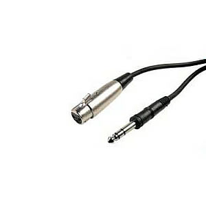 Cable, Microphone, XLR Female to 1/4