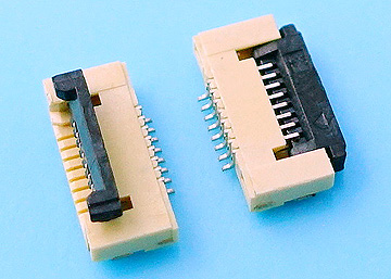 FPC 0.5mm H:1.2 Cover Lift SMT R/A Upper Contact Type Connector