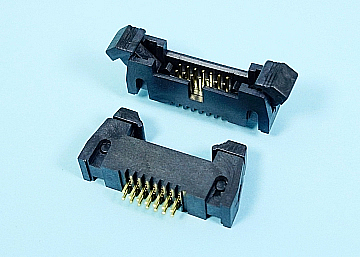 1.27 mm Pitch Box Header With Latches  Straight Type