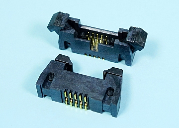 1.27 mm Pitch Box Header With Latches SMT Type