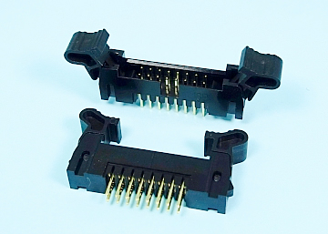 2.0 mm Pitch Box Header With Short Latches  Straight Type