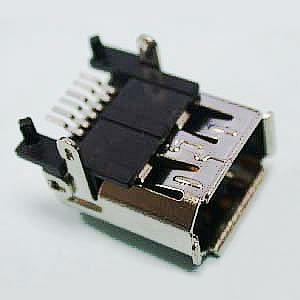 IEEE1394 Female Single SMT