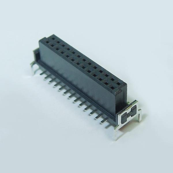 SMC02D 1.27mm Pitch Female Dual Row Board to Board Connector Vertical SMT Type w/ Board lock Dip Type ( Har-Flex )