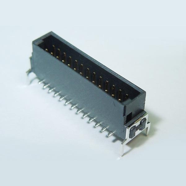 SMC04RD 1.27mm Pitch Male Dual Row Board to Board Connector Vertical SMT Type w/ Board lock Dip Type ( Har-Flex )
