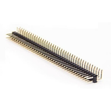 E14 Pin Header Dual Row Single & Dual Body Right Angle DIP TYPE ( Dual Row: 1.27*1.27mm)