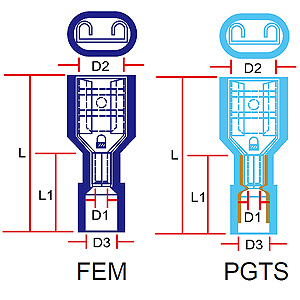 - Connector terminals