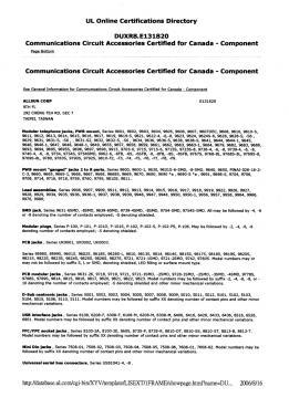 相關認證 UL認證:DUXR8.E131820 P1