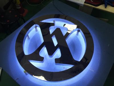 LED發光字 LOGO製作-不銹鋼背發光