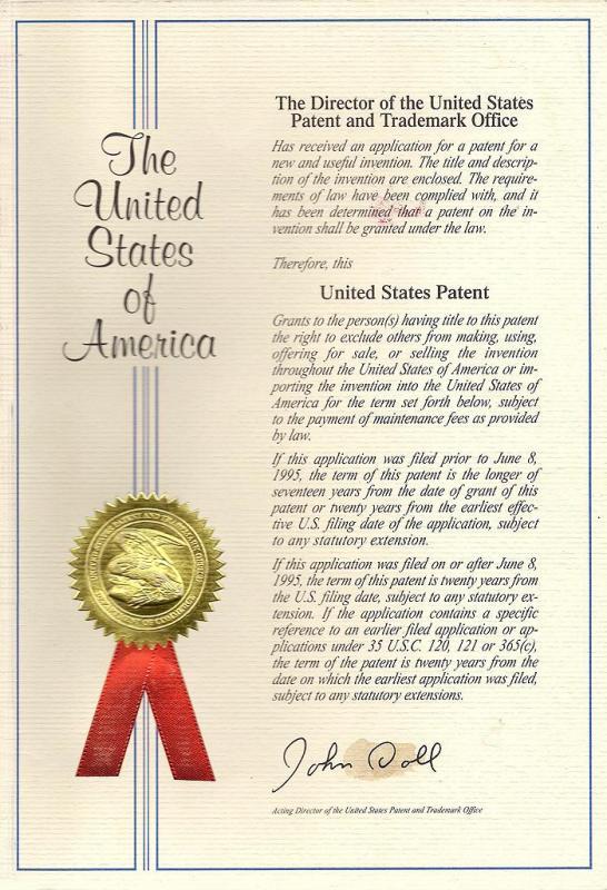 專利證書 薄型化電子裝置眼鏡